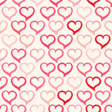 Pink and red hearts Stock Photo