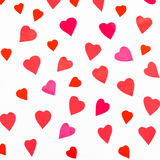 Pink and red hearts cutout from color paper Stock Photos