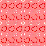 Pink and red hearts seamless Valentine background Royalty Free Stock Photos