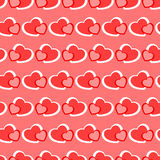 Pink and red hearts seamless Valentine background Royalty Free Stock Photography