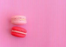 Pink red macaroon dessert Stock Images