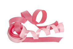 Pink and red paper horizontal ribbon Stock Images
