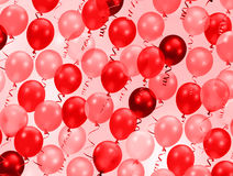 Pink and red party balloons Royalty Free Stock Photo
