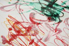 Pink red phosphorescent paint waxy abstract background Stock Images
