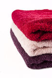 Pink, red and purple towels Stock Photography