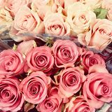Pink and Red Rose Bouquets Royalty Free Stock Photos