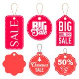 Pink and Red Sale Tags Vector Set Isolated vector illustration