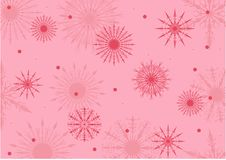 Pink and red snowflake background Stock Photo
