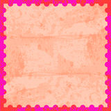 Pink and red stamp card Royalty Free Stock Photography