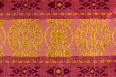 Pink and Red Stripe Pattern Thai Silk Stock Photos