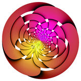 Pink and red weaved sphere Stock Photography