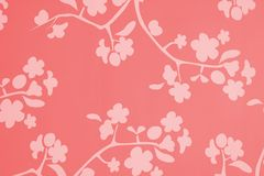 Pink Red White Blossom Background. A flowery lotus blossom background in pink red and white vector illustration