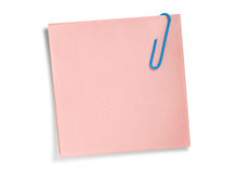 Pink remainder note isolated Stock Image