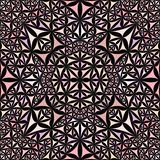 Pink repeating kaleidoscope pattern background - abstract vector wallpaper illustration from curved triangles royalty free illustration