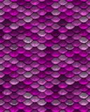 Pink Repeating Playful Mermaid Fish Scale Pattern Royalty Free Stock Image