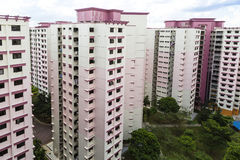 Pink residential estate Stock Photo