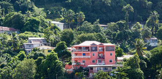 Pink Resort Condo on Tropical Hill. On St Thomas Royalty Free Stock Photo