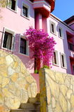 Pink resort house Royalty Free Stock Photography