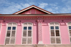 Pink Restored Building Royalty Free Stock Photo
