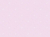 Pink retro background. 60s style with swirls stock illustration
