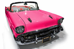 Pink retro car Royalty Free Stock Photos
