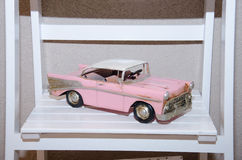 Pink retro car model Stock Photo