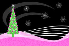 Pink Retro Christmas Royalty Free Stock Photography