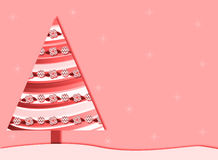 Pink Retro Christmas tree background Royalty Free Stock Photo