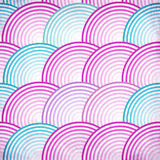 Pink retro fish scales vector seamless pattern Stock Photography