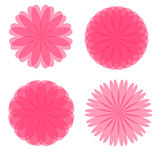 Pink Retro Flowers Stock Images