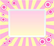 Pink retro frame with circles Royalty Free Stock Photo