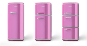 Pink a retro the fridge Royalty Free Stock Images