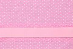 Pink retro polka Royalty Free Stock Image