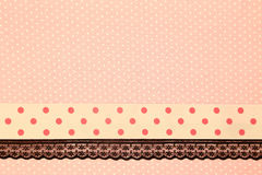 Pink retro polka dot textile Stock Photography