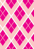 Pink rhomboid geometric seamless vector pattern. Illustration for print design or postcard Stock Photos