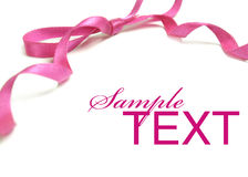 Pink ribbon Royalty Free Stock Photos