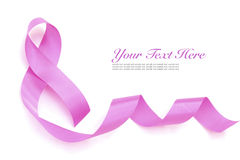 Pink ribbon. Stock Photography