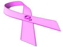 Pink Ribbon. The 3d universal symbol of fight against breast cancer Stock Photos