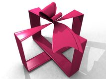 Pink ribbon 3d Stock Images