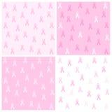 Pink ribbon background Stock Photos