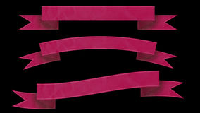 Pink Ribbon banners for your text. Royalty Free Stock Photo