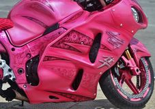 Pink Ribbon Bike Stock Photo