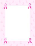 Pink ribbon border Royalty Free Stock Photos