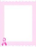 Pink ribbon border Stock Images