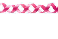Pink Ribbon Border Stock Photo