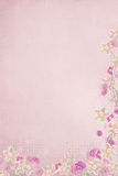 Pink Ribbon border with flowers Royalty Free Stock Image