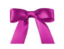 Pink ribbon bow Stock Photography
