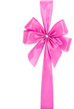 Pink ribbon and bow Stock Photography