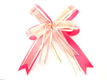 Pink ribbon bow Stock Images