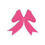 Pink ribbon bow festive easter. Illustration eps 10 Royalty Free Stock Photo